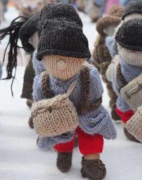 Soldat français tricoté en laine