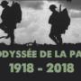 odyssée de la paix soldats qui marchent